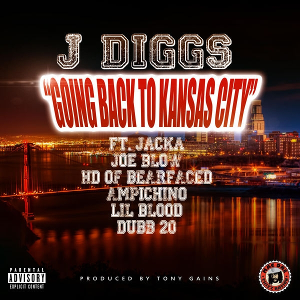 J-Diggs feat. The Jacka, Joe Blow, HD, Ampichino, Lil Blood & Dubb 20 Going Back to Kansas City Cover Art