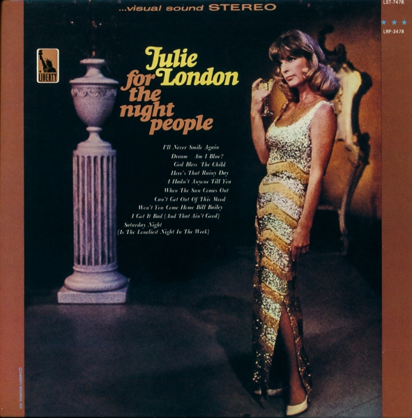 Julie London For the Night People cover art