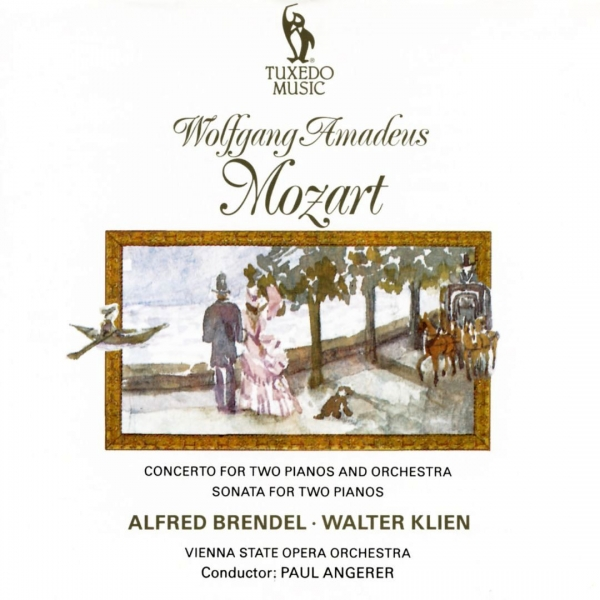 Wolfgang Amadeus Mozart; Alfred Brendel, Walter Klien, Vienna Chamber Orchestra, Paul Angerer Concerto for Two Pianos and Orchestra K. 365 / Sonata for Two Pianos K. 448 / Fugue K. 426 Cover Art