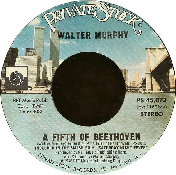 Walter Murphy A Fifth of Beethoven / California Strut Cover Art