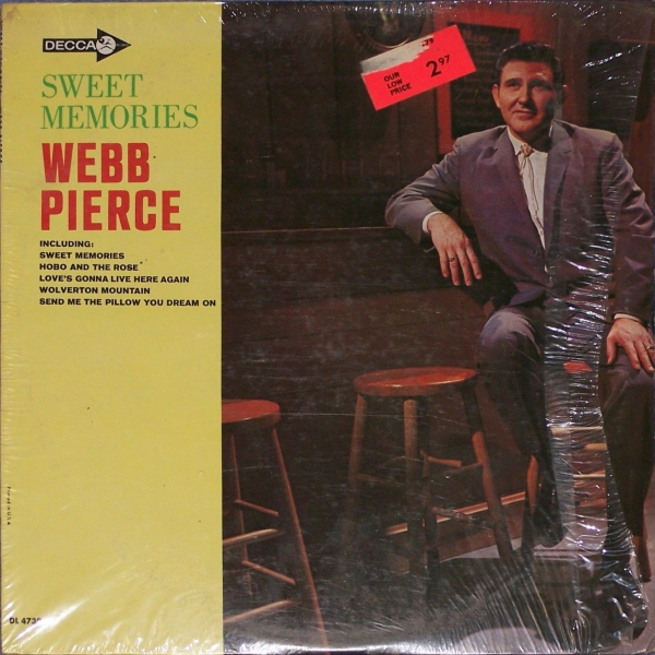 Webb Pierce Sweet Memories cover art