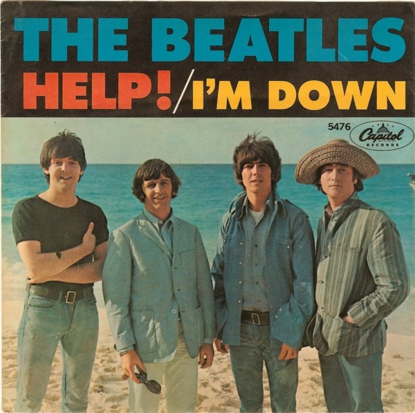 The Beatles Help! / I'm Down cover art