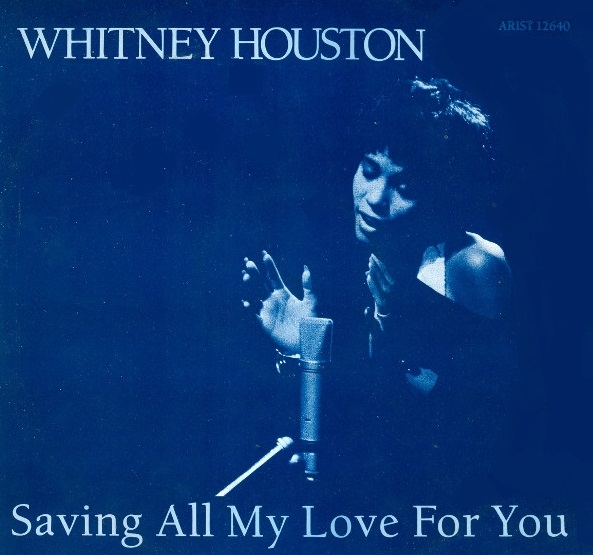 Whitney Houston Saving All My Love for You Cover Art