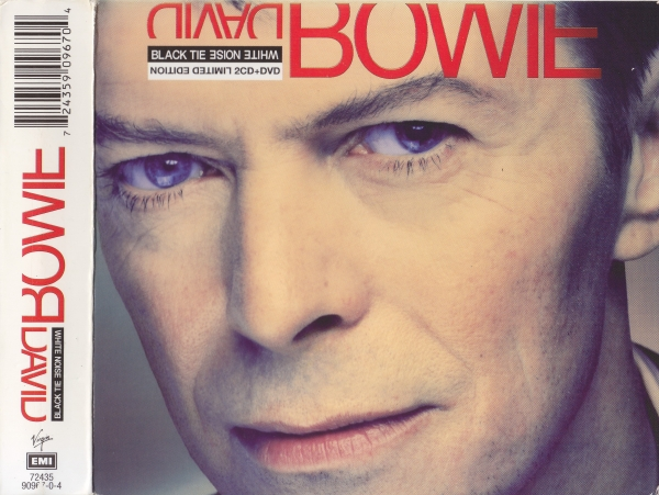 David Bowie Black Tie White Noise cover art