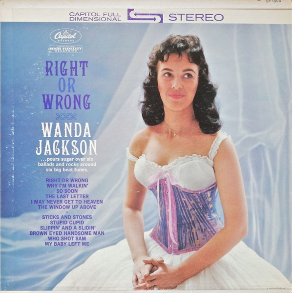 Wanda Jackson Right or Wrong cover art