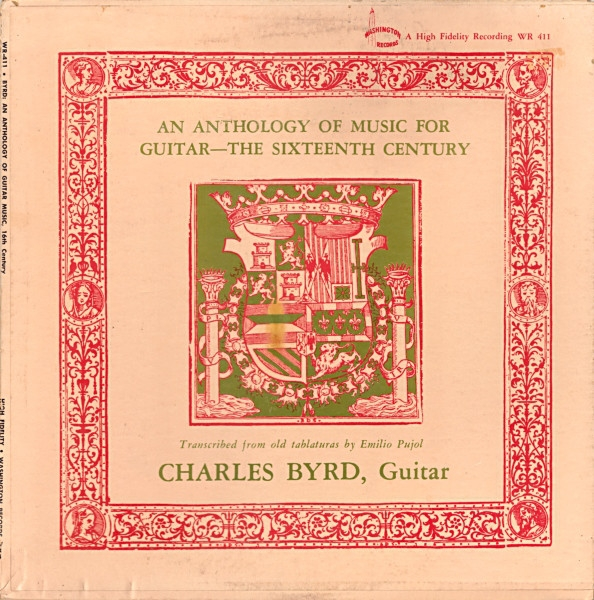 Charles Byrd An Anthology of Guitar Music — The Sixteenth Century Cover Art