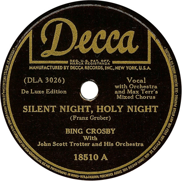 Bing Crosby Silent Night, Holy Night / Adeste Fideles Cover Art