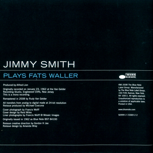 Jimmy Smith Plays Fats Waller cover art