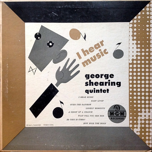 The George Shearing Quintet I Hear Music cover art