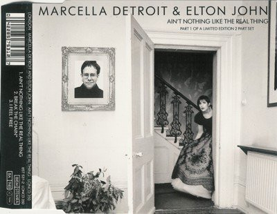 Marcella Detroit & Elton John Ain't Nothing Like the Real Thing Cover Art