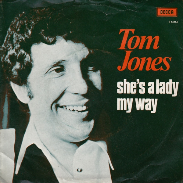 Tom Jones She's a Lady / My Way Cover Art