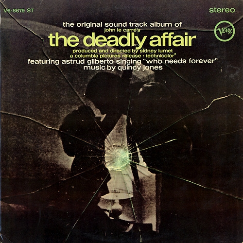 Quincy Jones The Deadly Affair (The Original Sound Track Album) cover art