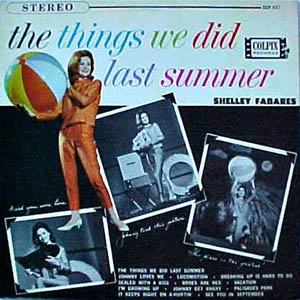 Shelley Fabares The Things We Did Last Summer Cover Art