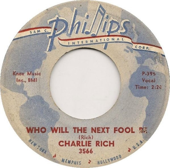 Charlie Rich Who Will the Next Fool Be / Caught in the Middle cover art