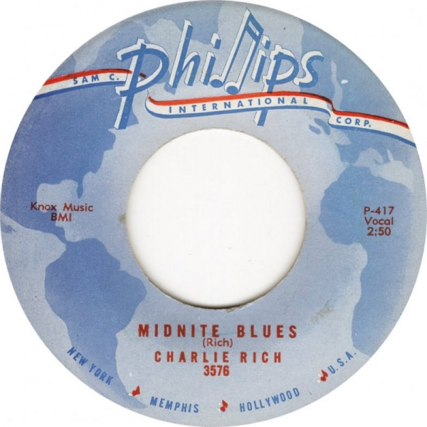 Charlie Rich Midnite Blues / Easy Money Cover Art