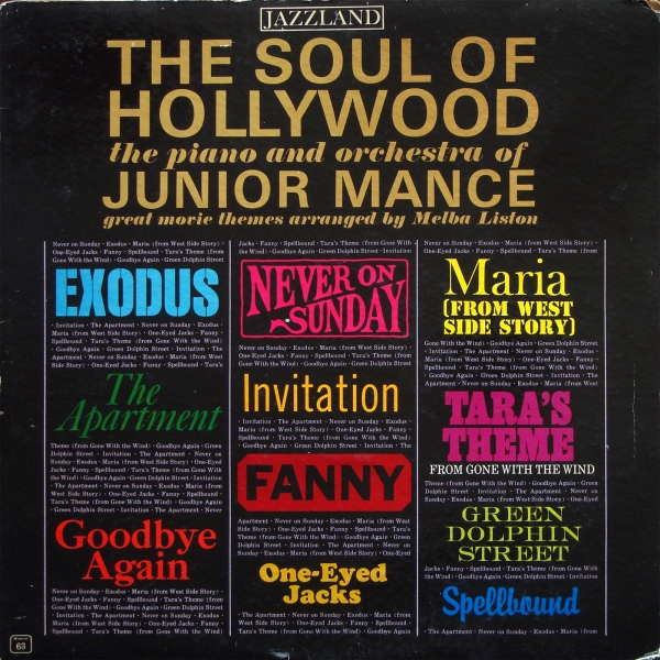 Junior Mance The Soul of Hollywood Cover Art