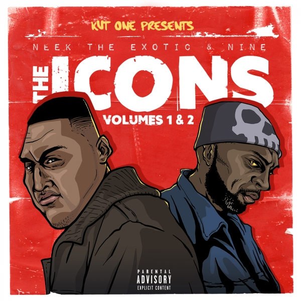 Neek the Exotic & Nine The Icons, Vol. 1 & 2 Cover Art