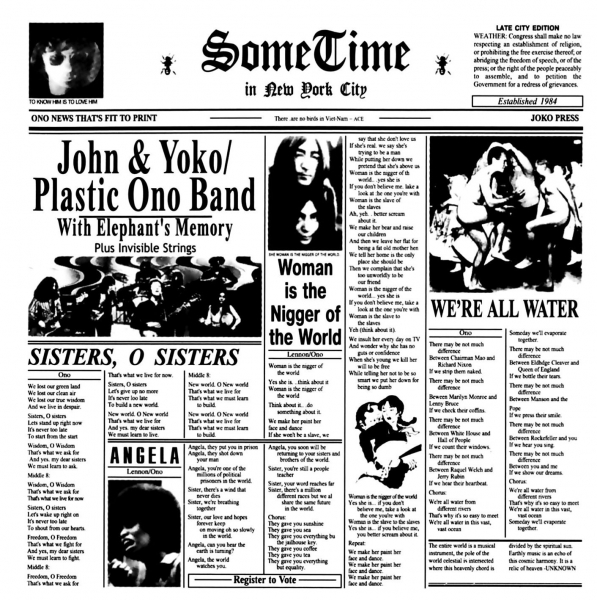 Yoko Ono Some Time in New York City cover art