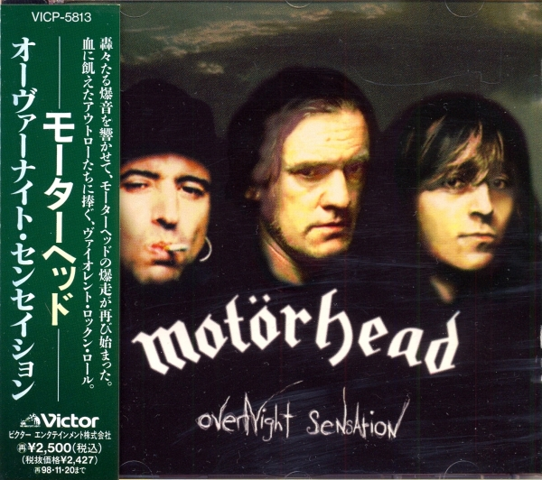 Motörhead Overnight Sensation Cover Art