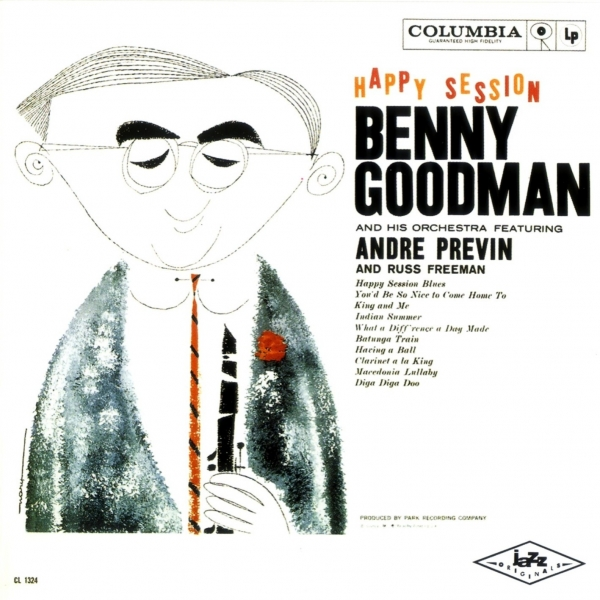Benny Goodman and His Orchestra Happy Session Cover Art