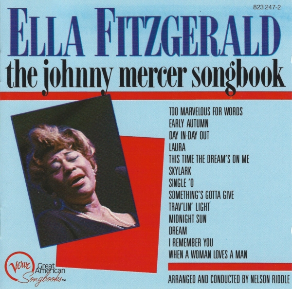Ella Fitzgerald Ella Fitzgerald Sings the Johnny Mercer Song Book Cover Art