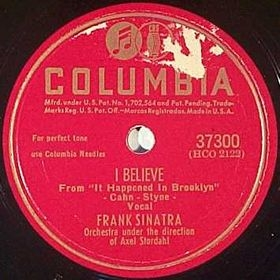 Frank Sinatra I Believe / Time After Time cover art