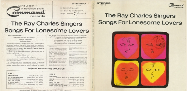 The Ray Charles Singers Songs for Lonesome Lovers cover art