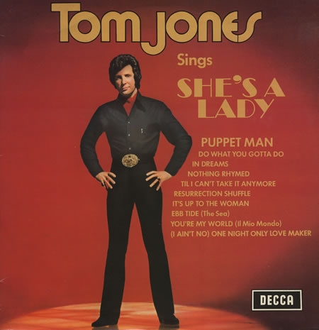 Tom Jones She's a Lady cover art