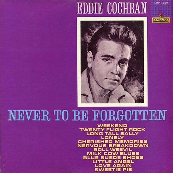 Eddie Cochran Never to Be Forgotten cover art