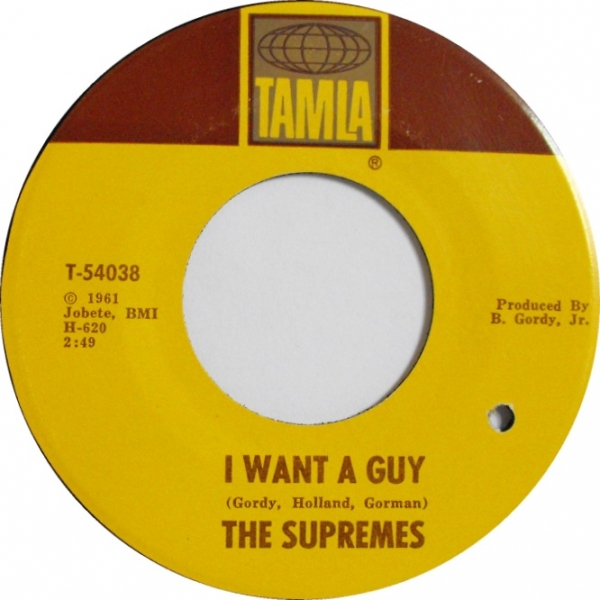 The Supremes I Want a Guy Cover Art