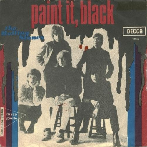 The Rolling Stones Paint It Black cover art