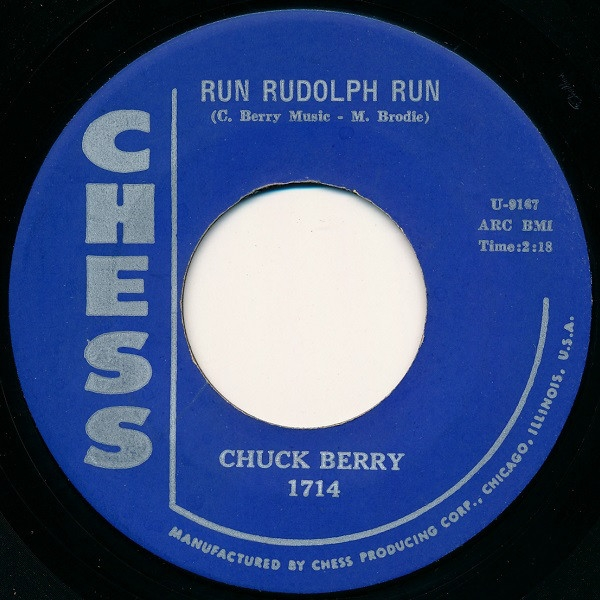 Chuck Berry Run Rudolph Run / Merry Christmas Baby Cover Art