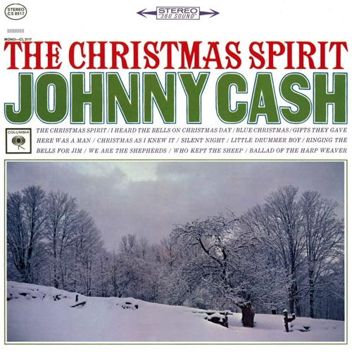 Johnny Cash The Christmas Spirit cover art