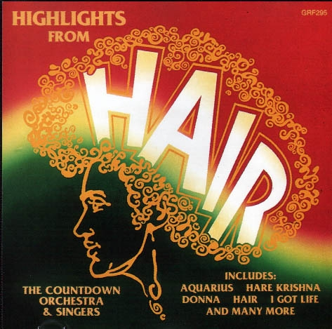 The Countdown Orchestra and Singers Highlights from Hair cover art