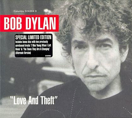 "Bob Dylan ""Love and Theft"" Cover Art"