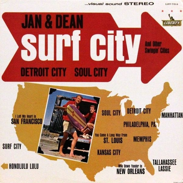 Jan & Dean Surf City and Other Swingin' Cities cover art