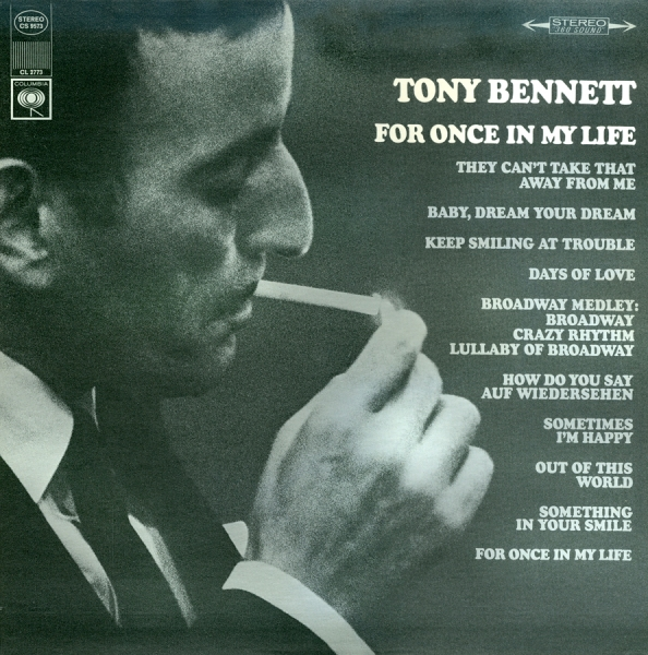 Tony Bennett For Once in My Life cover art