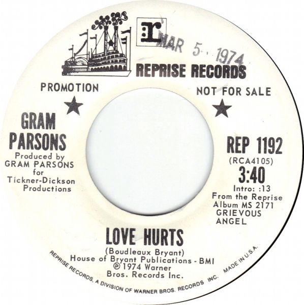 Gram Parsons Love Hurts Cover Art
