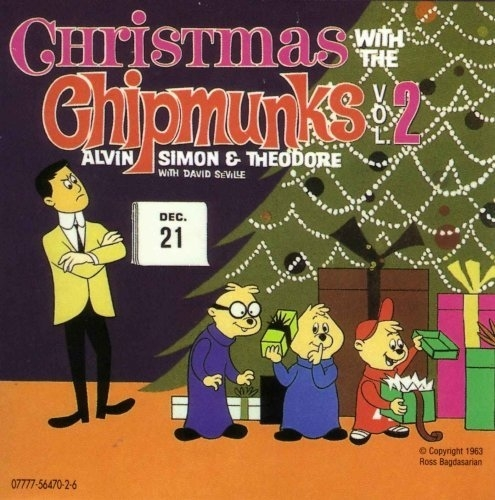 The Chipmunks Christmas With the Chipmunks, Volume 2 cover art